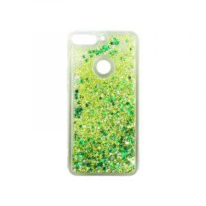 Θήκη Huawei Y7 2018 Liquid Glitter πράσινο 1