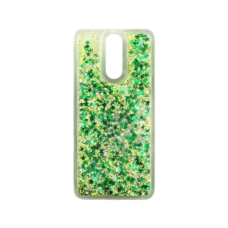 Θήκη Huawei Mate 10 Lite Liquid Glitter πράσινο 1