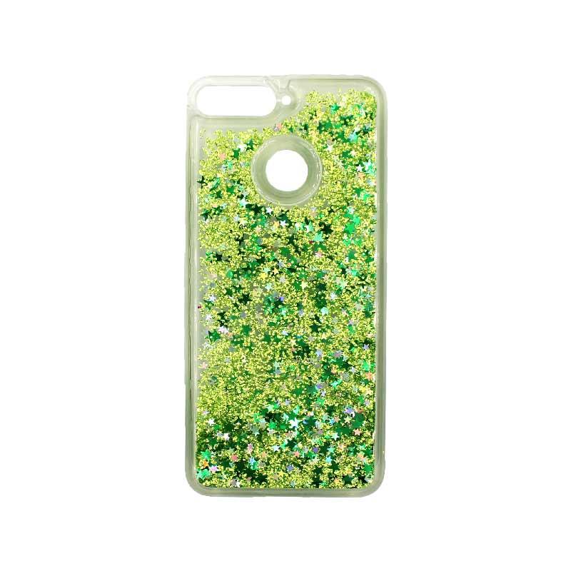 Θήκη Huawei Y6 2018 Liquid Glitter πράσινο 1