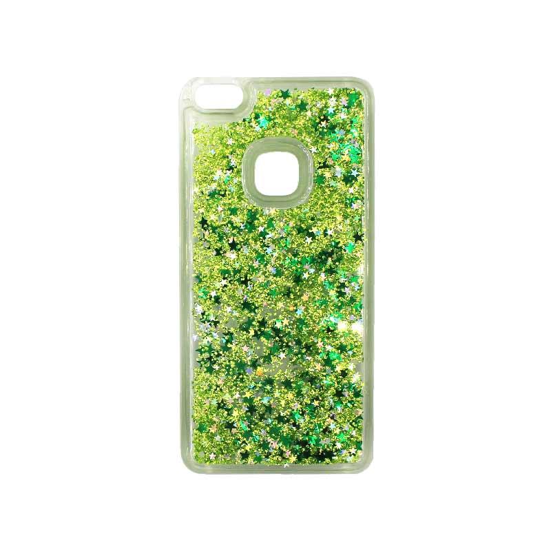 Θήκη Huawei P10 Lite Liquid Glitter πράσινο 1