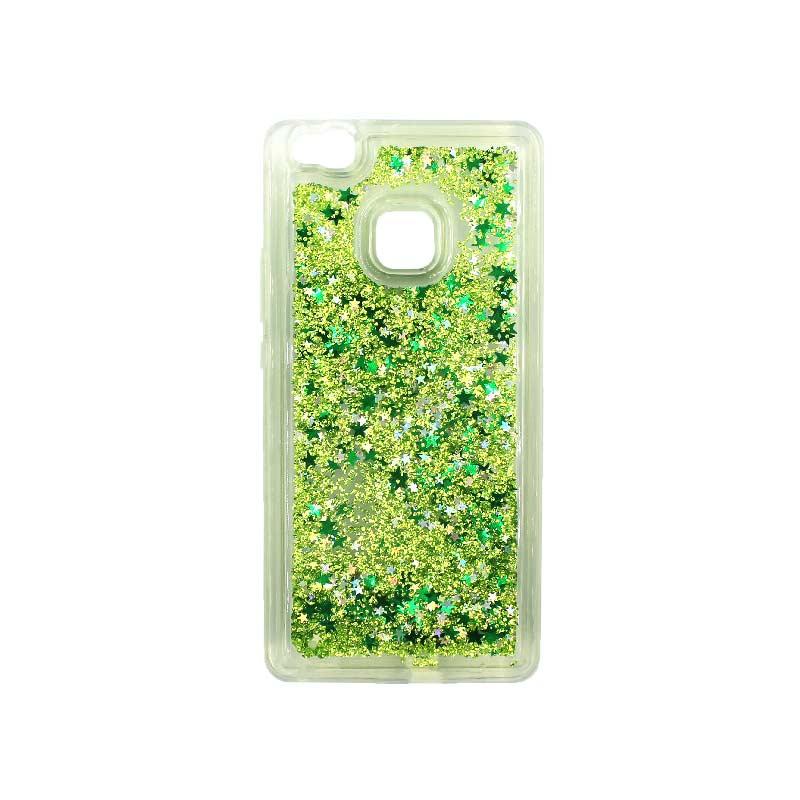 Θήκη Huawei P9 Lite Liquid Glitter πράσινο 1