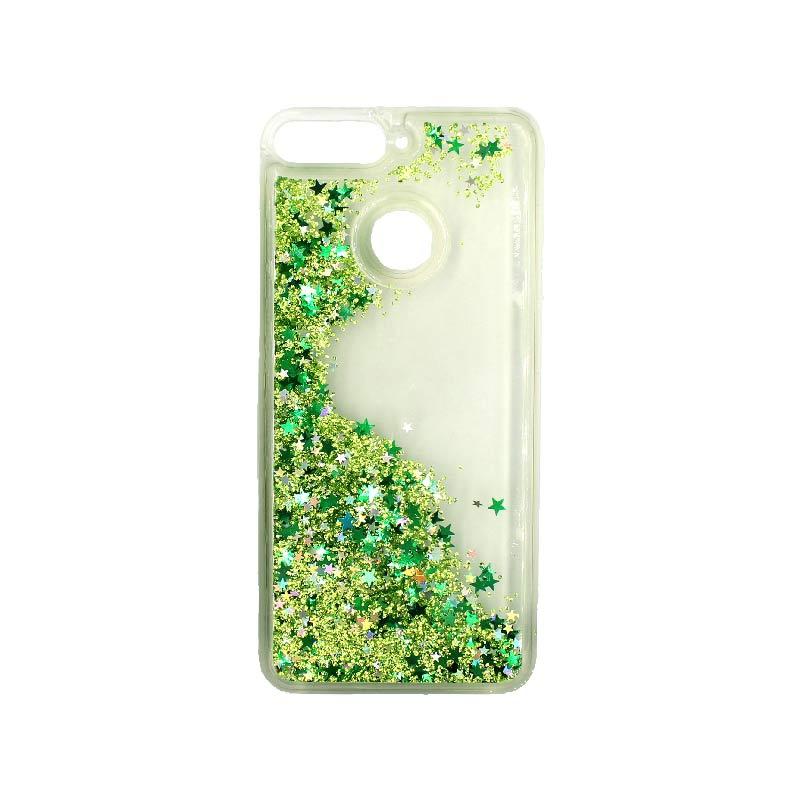 Θήκη Huawei Y6 2018 Liquid Glitter πράσινο 2