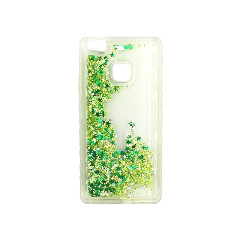 Θήκη Huawei P9 Lite Liquid Glitter πράσινο 2