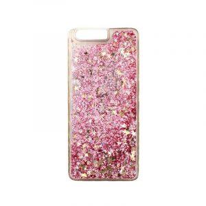 Θήκη Huawei P10 Liquid Glitter ροζ χρυσό 1