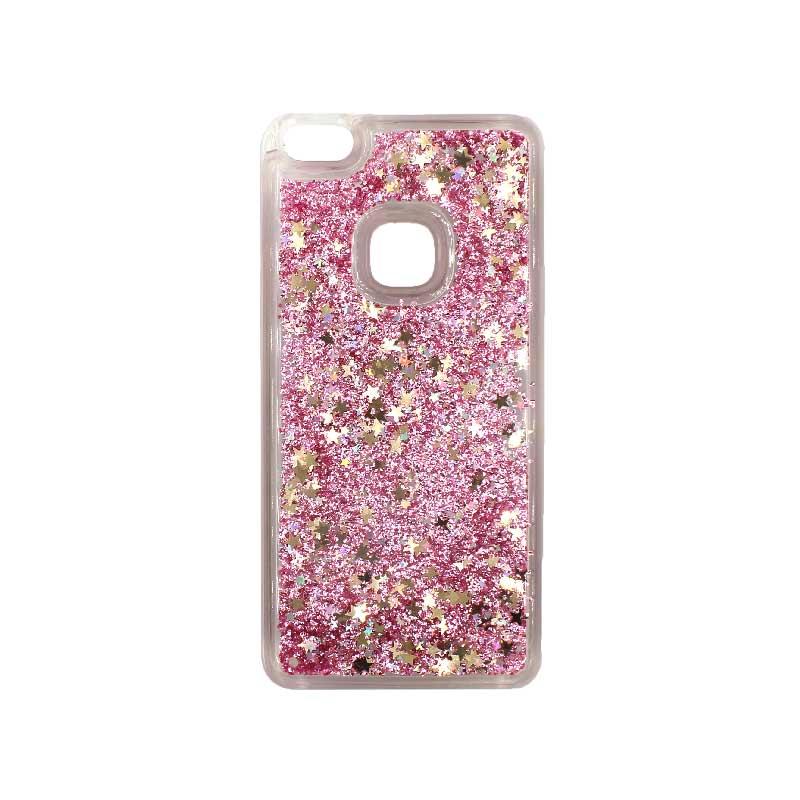 Θήκη Huawei P10 Lite Liquid Glitter ροζ χρυσό 1