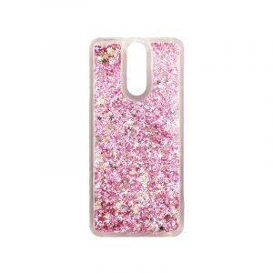 Θήκη Huawei Mate 10 Lite Liquid Glitter ροζ χρυσό 1