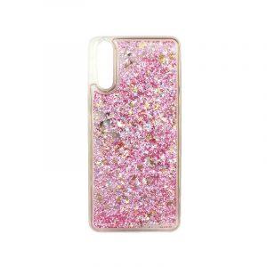 Θήκη Huawei P20 Liquid Glitter ροζ χρυσό 1