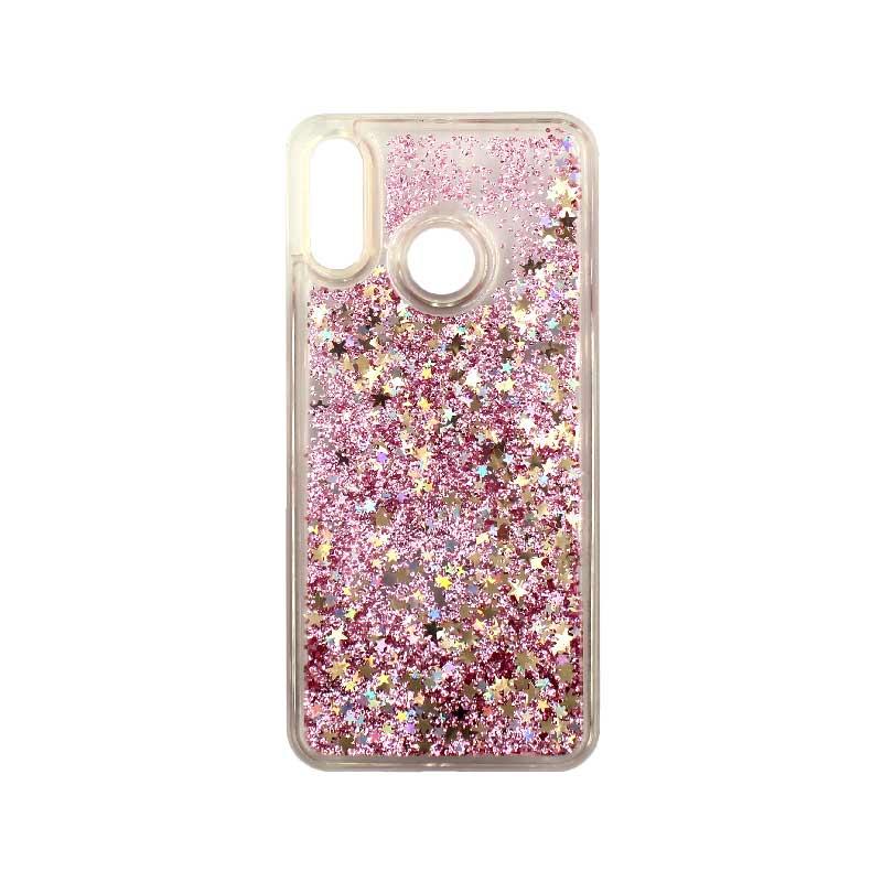 Θήκη Huawei P20 Lite Liquid Glitter ροζ χρυσό 1