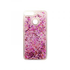Θήκη Huawei Y6 2018 Liquid Glitter ροζ 1