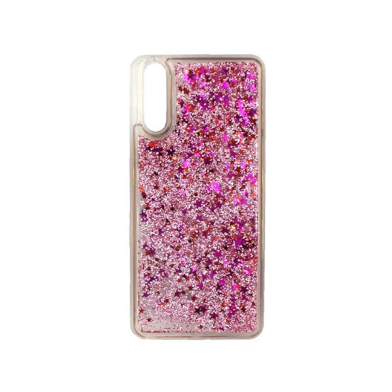 Θήκη Huawei P20 Liquid Glitter ροζ 1