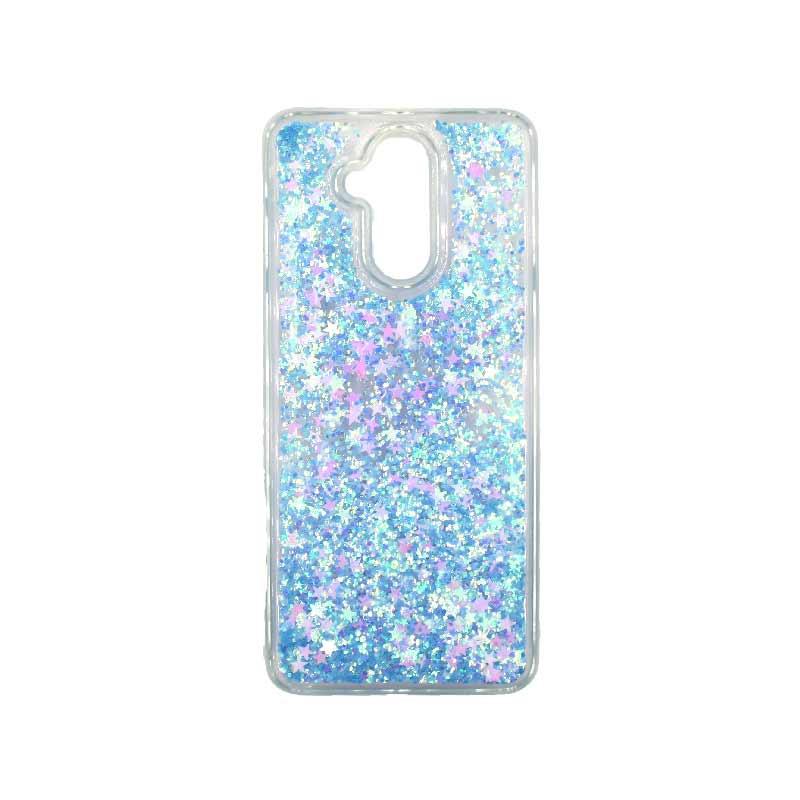 Θήκη Huawei Mate 20 Lite Liquid Glitter γαλάζιο 1