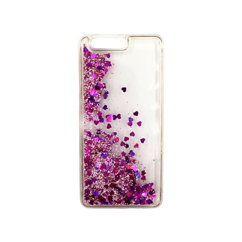 Θήκη Huawei P10 Plus Liquid Glitter ροζ 2