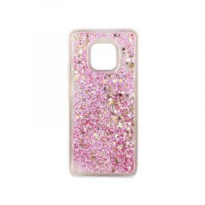 Θήκη Huawei Mate 20 Pro Liquid Glitter ροζ χρυσό 1