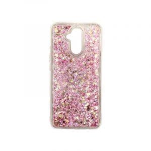Θήκη Huawei Mate 20 Lite Liquid Glitter ροζ χρυσό 1