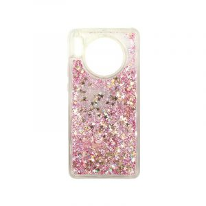 Θήκη Huawei Mate 30 Liquid Glitter ροζ χρυσό 1