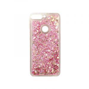 Θήκη Huawei Y7 2018 Liquid Glitter ροζ χρυσό 1