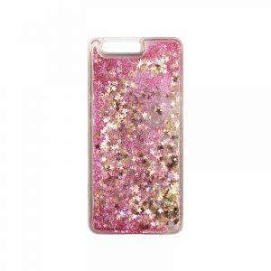 Θήκη Huawei P10 Plus Liquid Glitter ροζ χρυσό 1