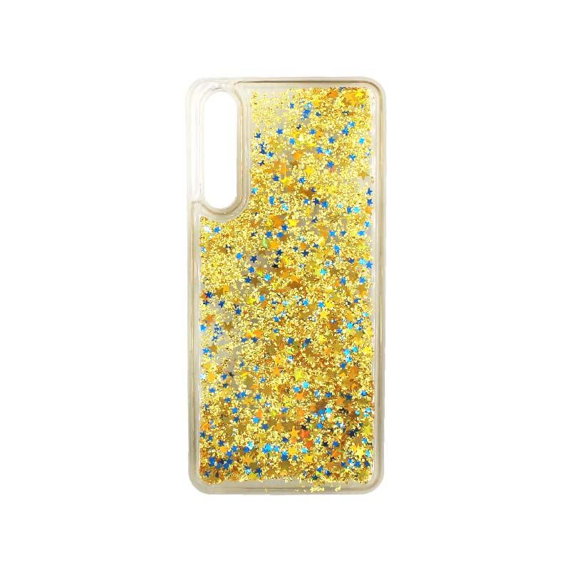 Θήκη Huawei P20 Pro Liquid Glitter χρυσό 1