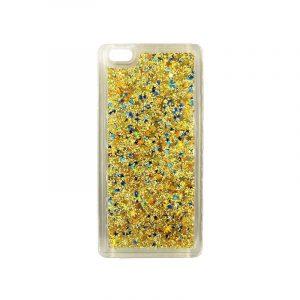Θήκη Huawei P8 Lite Liquid Glitter χρυσό 1