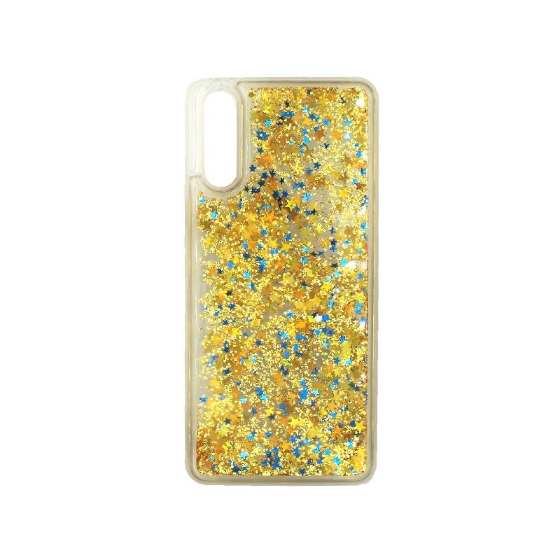 Θήκη Huawei P20 Liquid Glitter χρυσό 1