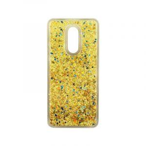 Θήκη Xiaomi Redmi 5 Plus Liquid Glitter χρυσό 1