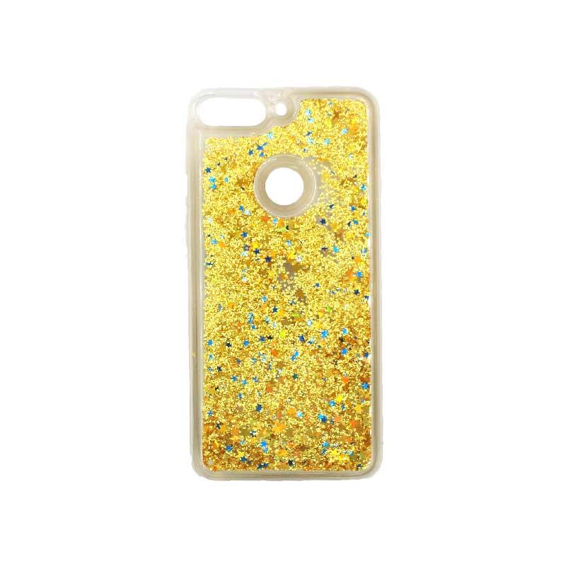 Θήκη Huawei Y7 2018 Liquid Glitter χρυσό 1