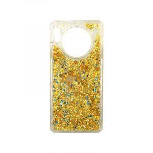 Θήκη Huawei Mate 30 Liquid Glitter χρυσό 1