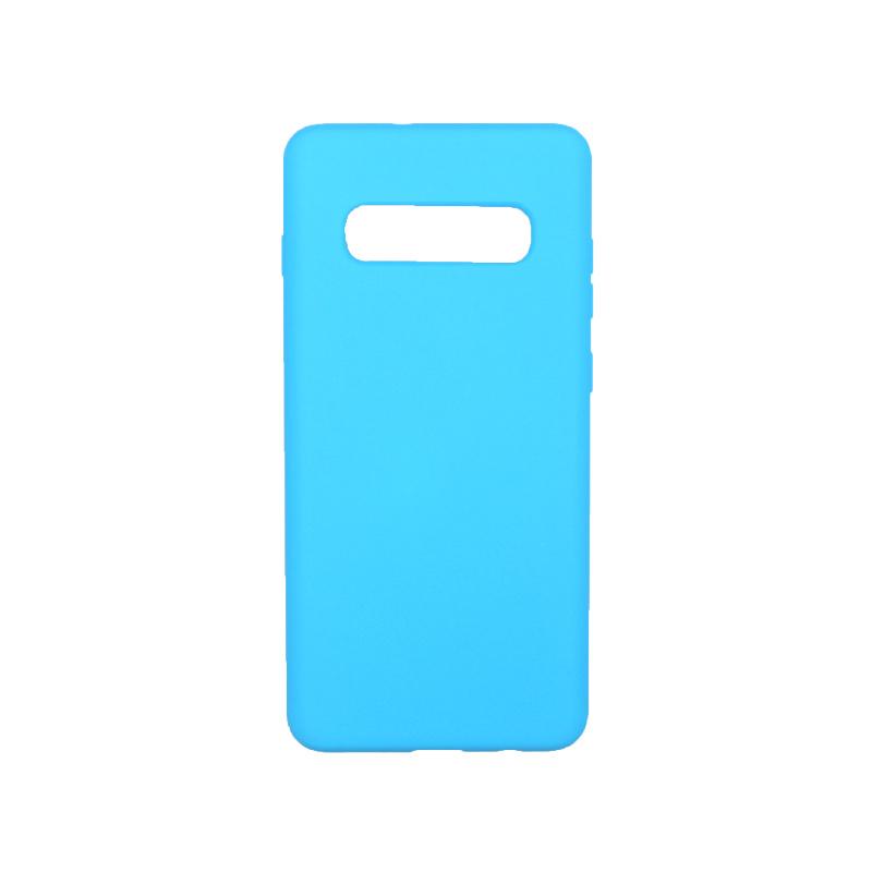 Θήκη Samsung Galaxy S10 Plus Silky and Soft Touch Silicone γαλάζιο 1
