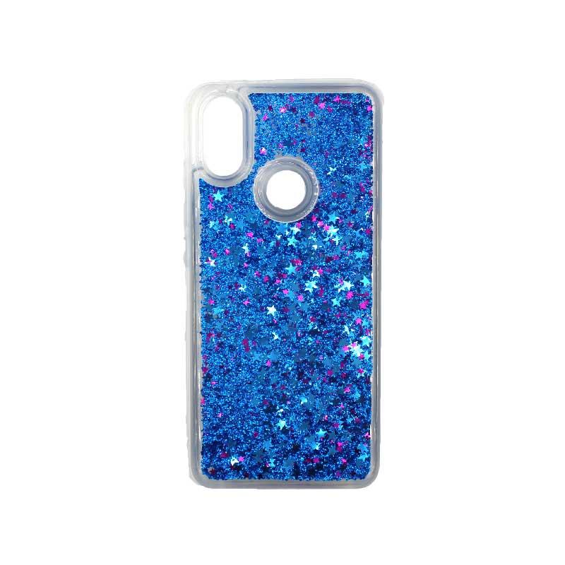 Θήκη Xiaomi Redmi Note 5 / 5 Pro Plus Liquid Glitter μπλε 1