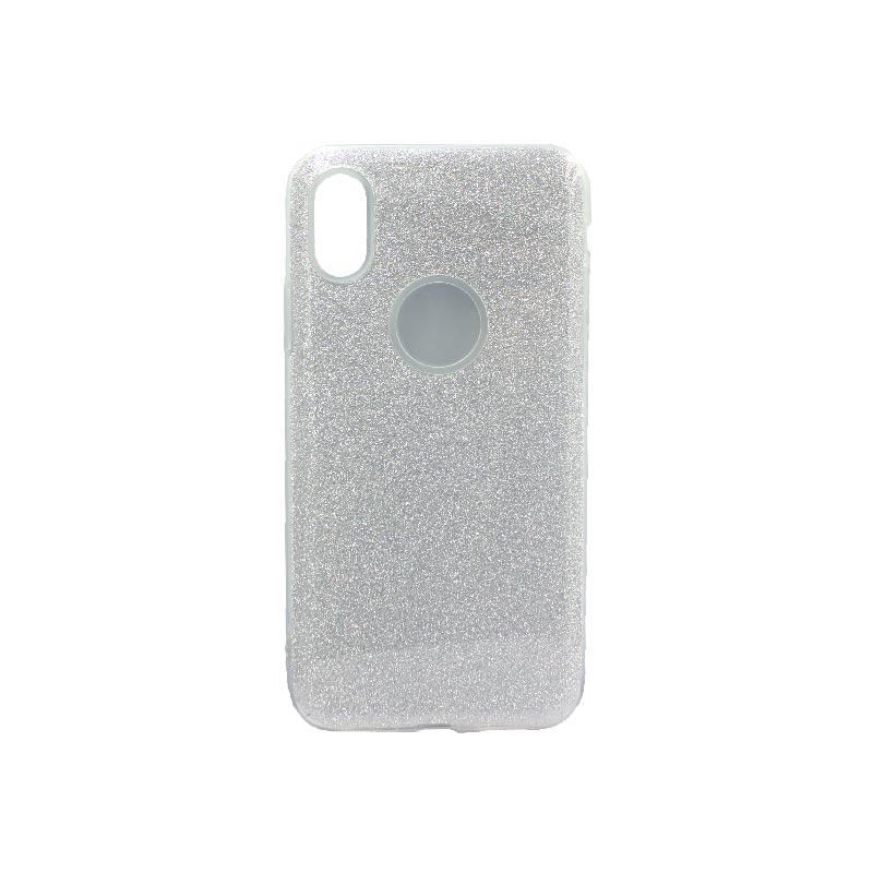 θήκη iphone X / Xs glitter γκρι