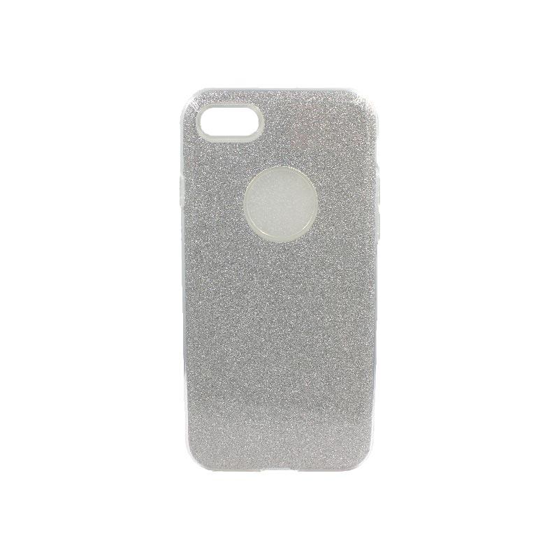 θήκη iphone 7-8 glitter γκρι