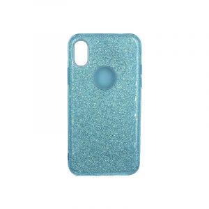 θήκη iphone Xs Max glitter γαλάζιο