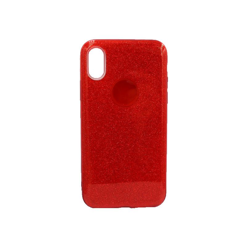 θήκη iphone X / Xs glitter κόκκινο