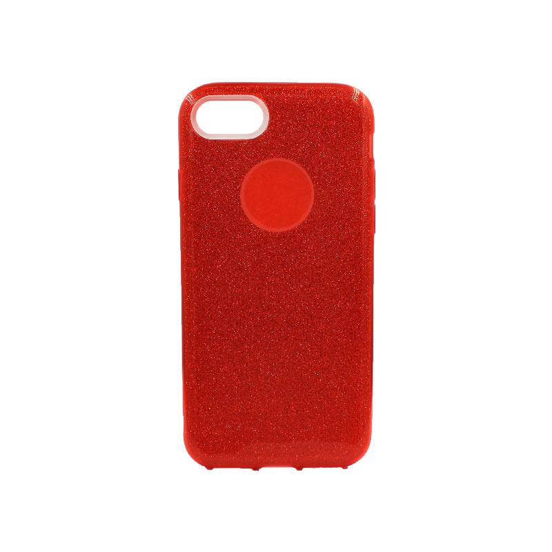 θήκη iphone 7-8 glitter κόκκινο