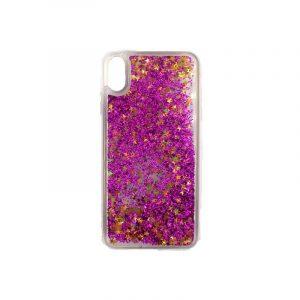 Θήκη Iphone Xs Max glitter με αστεράκια φουξ 1