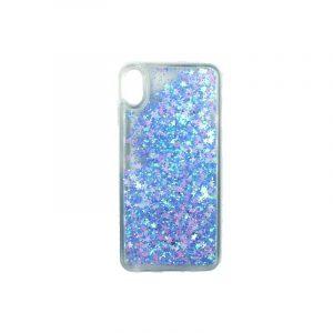 Θήκη Iphone Xs Max glitter με αστεράκια γαλάζιο 1
