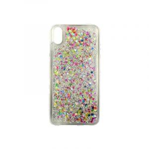 Θήκη Iphone Xs Max glitter με αστεράκια πολύχρωμο 1