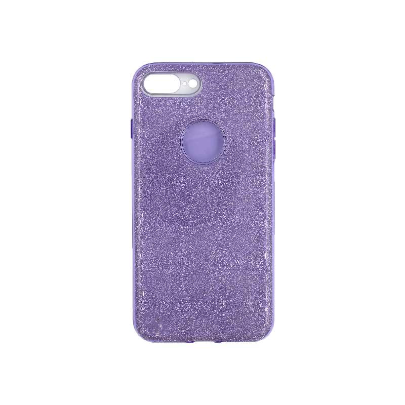 θήκη iphone 7 Plus / 8 Plus glitter μωβ 1