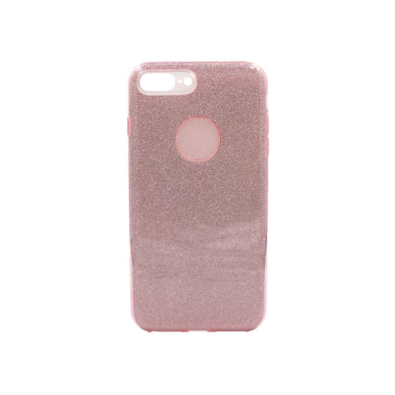 θήκη iphone 7 Plus / 8 Plus glitter ροζ 1