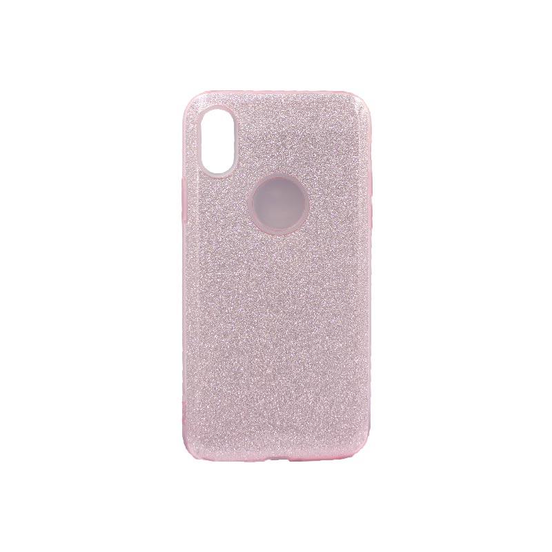 θήκη iphone Xs Max glitter ροζ