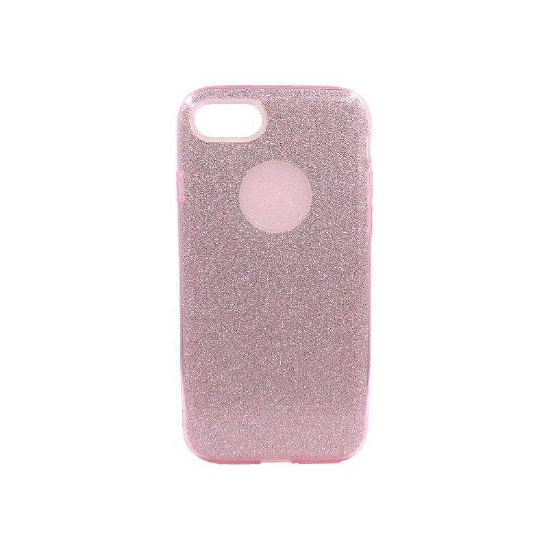 θήκη iphone 7-8 glitter ροζ
