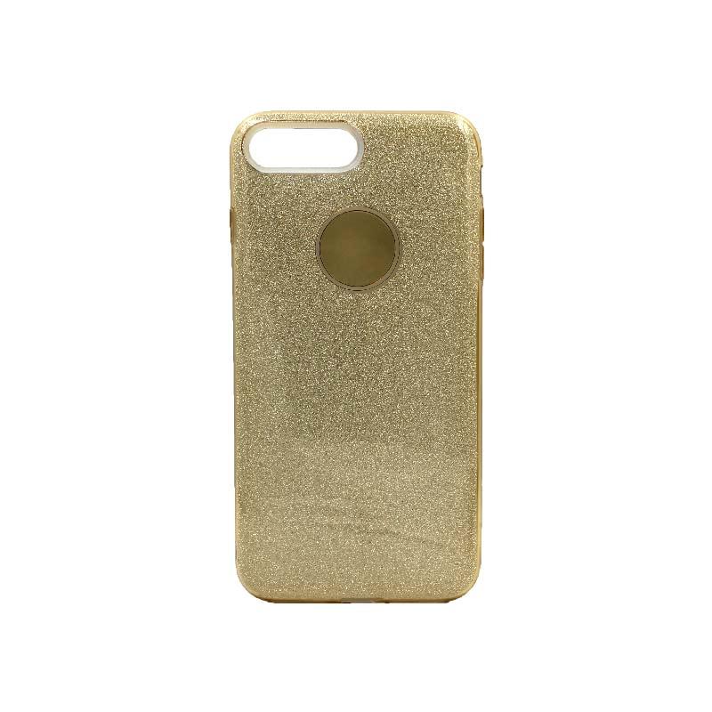θήκη iphone 7 Plus / 8 Plus glitter χρυσό 1