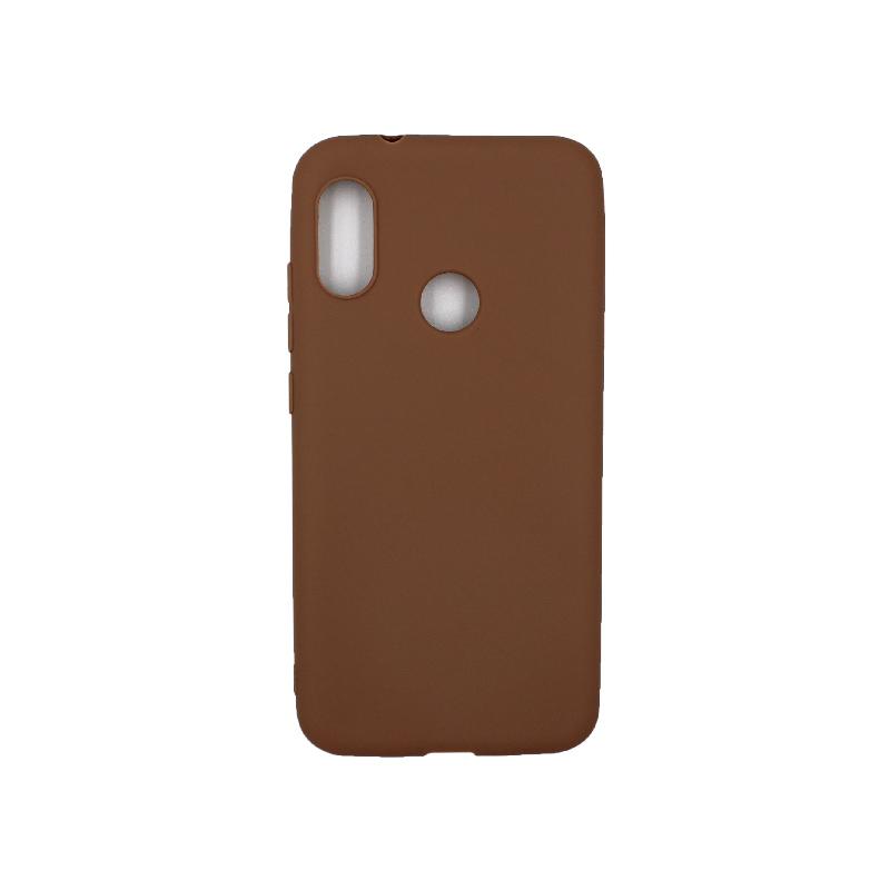 Θήκη Xiaomi A2 Lite Redmi 6X / A2 / Redmi 6 Pro Σιλικόνη καφέ