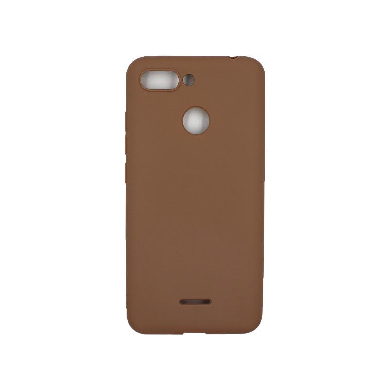Θήκη Xiaomi Redmi 6 Σιλικόνη καφέ