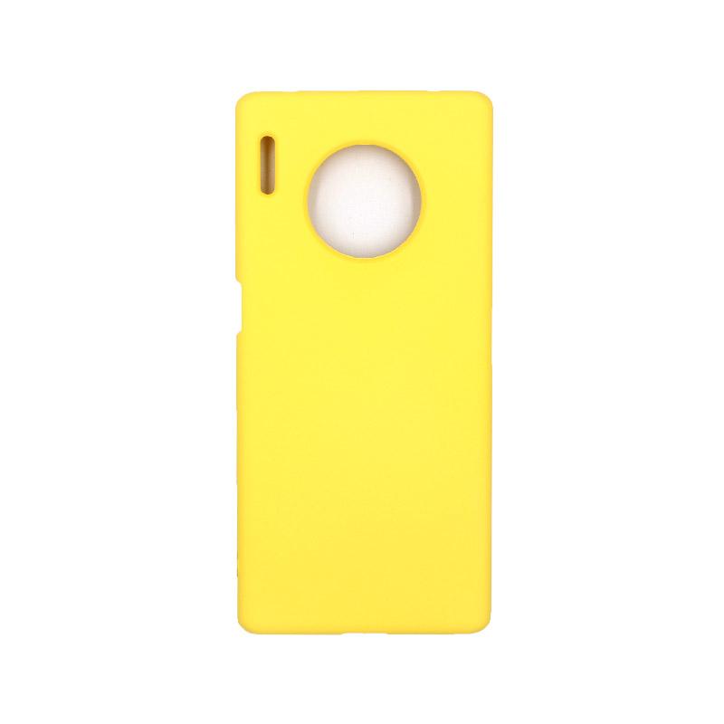 Θήκη Huawei Mate 30 Pro Silky and Soft Touch Silicone κίτρινο 1