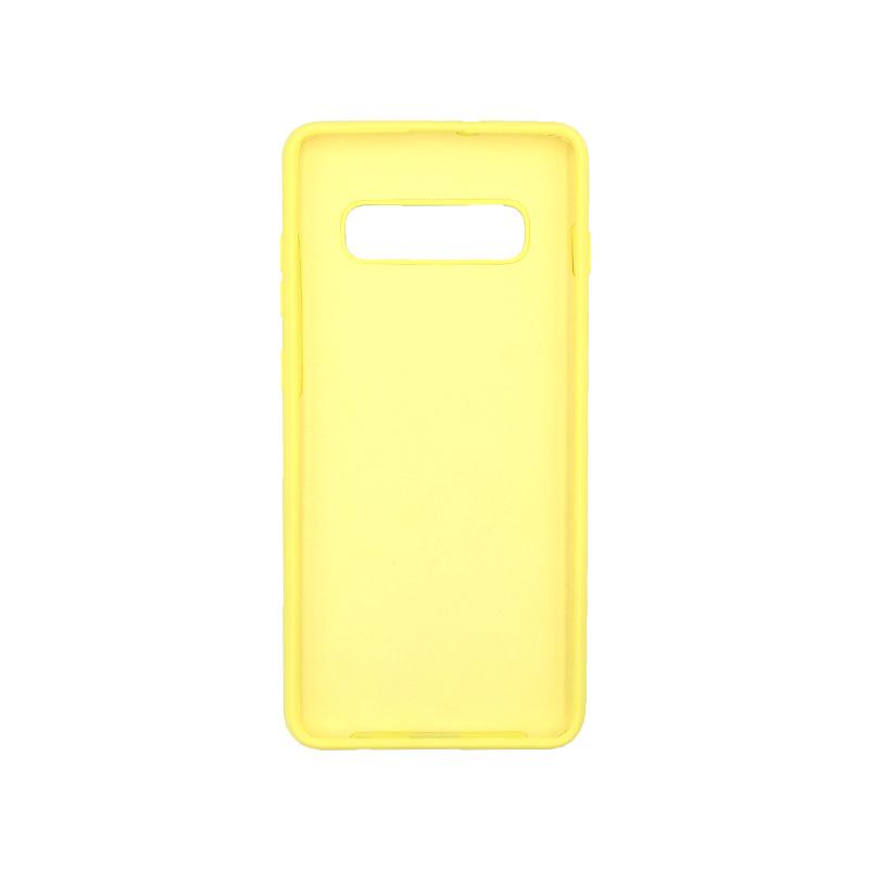 Θήκη Samsung Galaxy S10 Plus Silky and Soft Touch Silicone κίτρινο 2