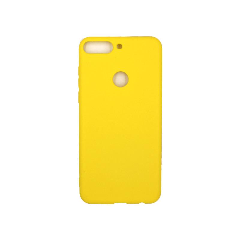 Θήκη Huawei Y7 2018 Σιλικόνη κίτρινο