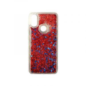 Θήκη Xiaomi Redmi Note 5 / 5 Pro Plus Liquid Glitter κόκκινο 1