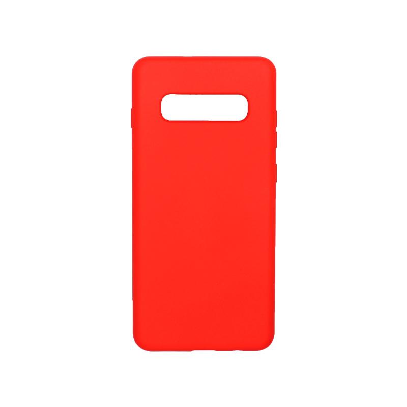 Θήκη Samsung Galaxy S10 Plus Silky and Soft Touch Silicone κόκκινο 1