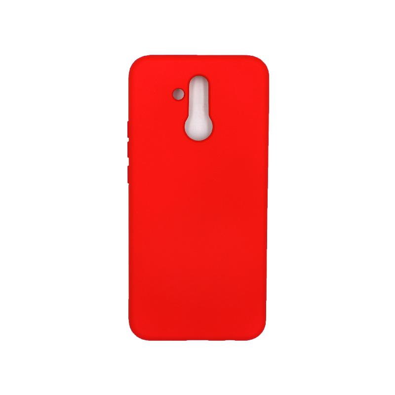 Θήκη Huawei Mate 20 Lite Silky and Soft Touch Silicone (Double Hole) κόκκινο 1